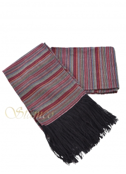 Traditional Woven Wool Belt with Fringes