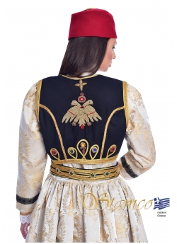 Greek Kastoria Costume with Hand-Embroidered Vest