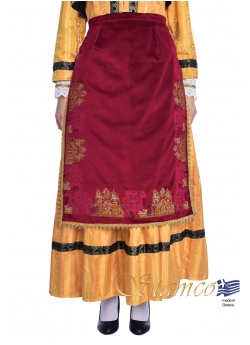 Apron with Traditional Embroidered Patterns