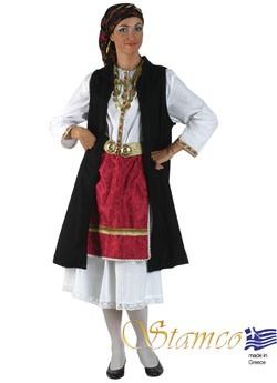 Costume Epirus Black Vest