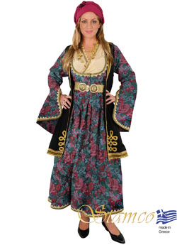 Costume Epirus Brocade Gray