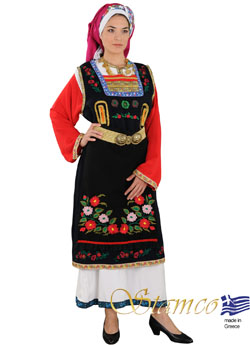 Costume Thrace Woman Embroidered