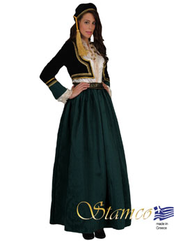 Costume Amalia Green Brocade