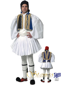 Costume Evzonas Man Blue