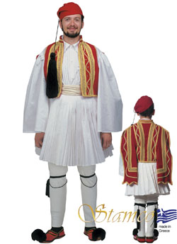 Costume Evzonas Man Red
