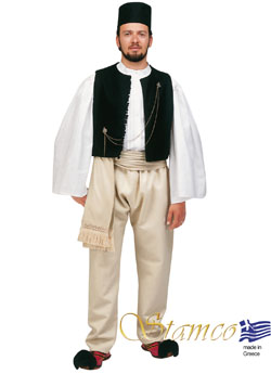 Costume Epirus Man Black Ves