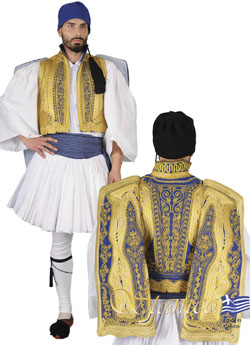 Costume Evzonas Gold Embroidered