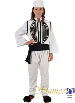 Costume Epirus Boy White