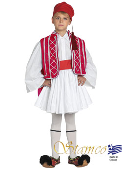 Costume Tsolias Boy Red