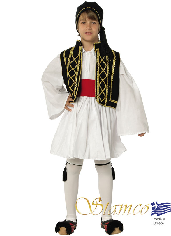 Costume Tsolias Black-Gold